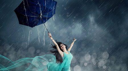 stres tańcząc w deszczu